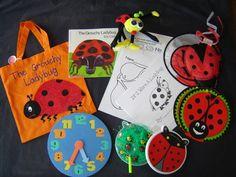 Grouchy Ladybug literacy bag