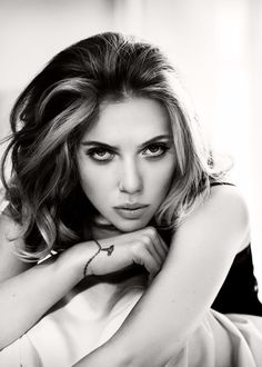 Scarlett Johansson | actor | 55 | portrait | bw | ram2013