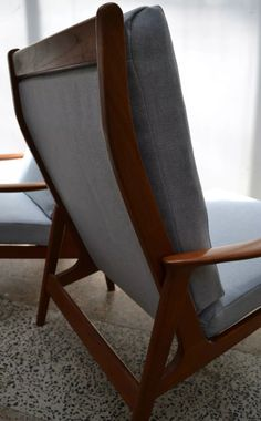 Mid Century Design, Armchairs, Accent Chairs, Furniture, Home Decor, Wing Chairs, Upholstered Chairs, Couches, Decoration Home