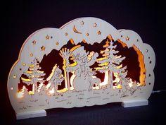 LED Lichterbogen Schwibbogen Fensterleuchter Schneemann Kinder 33 x 20 cm 10053