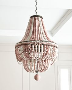Lighting - Shop Malibu Beaded Chandelier from Regina Andrew Design at Horchow is a handcrafted light created with steel and birch. Luxury Chandelier, Wood Chandelier, Beaded Chandelier, Empire Chandelier, Pendant Lamps, Pendant Lighting, Modern House Design, Modern Interior Design, Modern Decor