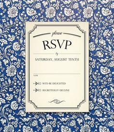 wedding rsvp cards template