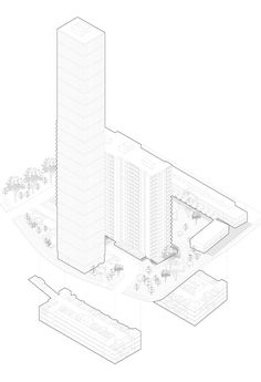 Architectural Drawing Design Michael Townshend - Master of Architecture - University of Toronto - Futuristic Housing in the Suburbs - Axonometric Architecture Sketchbook, Architecture Panel, Architecture Wallpaper, Architecture Graphics, Architecture Portfolio, Architecture Design, Architecture Diagrams, Hard Drawings, Architectural Section