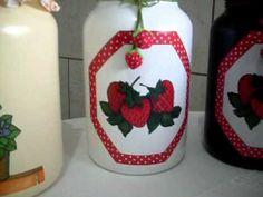 Potes de Vidro decorados - Rose Adams - YouTube