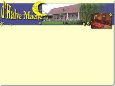 Restaurant tea-room d'Halve Maene te beernem gelegen langs het kanaal en diverse fietsroutes