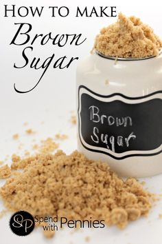 How to Make Brown Sugar! 2 Ingredients and 2 minutes!