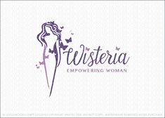 Logo for sale: A beautiful elegant woman figure designed with flowing lines that create the formation of this stunning female figure. To represent the idea of transformation, butterflies are incorporated to flow around the woman's figure. The butterflies add a natural and organic element to this beautiful empowering female logo.