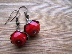 Vintage Inspired Red Velvet Crystal by autumnraincreations on Etsy, $15.00
