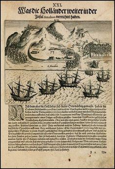 Manuscrito que describe la batalla que hubo en la isla para impedir el desembarco de los holandeses, allá en 1598. Leiden, Vintage World Maps, Battle, Holland, Printmaking, Islands