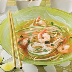 Soupe-repas tonkinoise aux crevettes - Les recettes de Caty