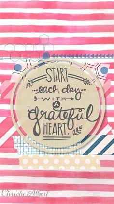 Watercolor Stripes Quote iPhone Wallpaper Lock Screen @PanPins