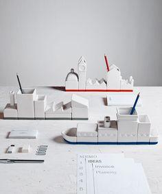 City-scape Desk Organizer #design dotandbo.com