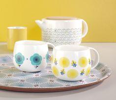 Blue & Yellow flowers - Mugs - Bird on the wire www.botw.fr