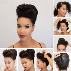 double bang french twists hairstyles natural hair black women