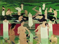 Baadsters op een zomeravond ~ 1892 ~ Olieverf op doek ~ 97 x 131 cm. ~ Kunsthaus Zürich, Zürich