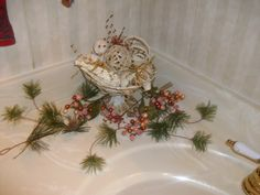 Bathroom sink decoration