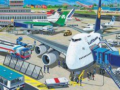 Interactieve praatplaat: Het vliegveld. by ingrid