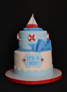 Exceptional Nautical Baby Shower Cake