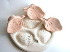 Clay Stamp Fresh Strawberry Fruit Berry Leaves Tool for Fondant Cookies Ceramics Pottery Polyclay                                                                                                                                                                                 More