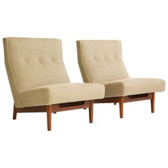 Jess Risom Lounge Chairs Pair | From a unique collection of antique and modern lounge chairs at http://www.1stdibs.com/furniture/seating/lounge-chairs/