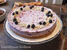 Kääpiölinnan köökissä: Valkosuklaa-mustikkajuustokakku ilman liivatetta Baking, Desserts, Food, Cakes, Tailgate Desserts, Deserts, Cake Makers, Bakken, Essen