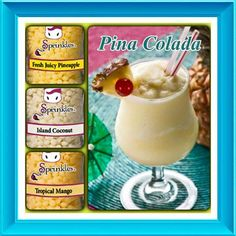 Pink Zebra Recipe: Pina Colada. Featuring Fresh Juicy Pineapple, Island Coconut and Tropical Mango