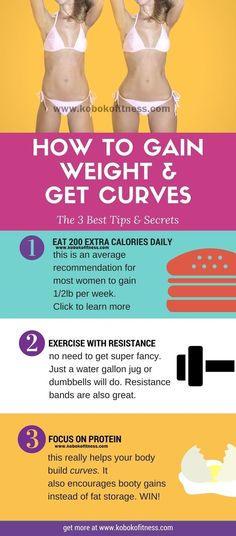 Discover the 3 best tips to gain weight and get curvy without gaining too much fat! Learn what to eat, the big mistake women make and more