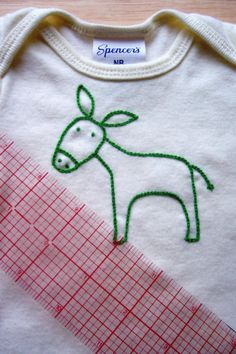 My Little Donkey hand embroidered onesie by MABbyMorgan on Etsy