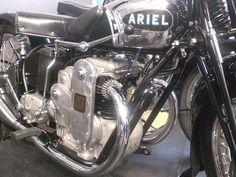 An early Ariel Square 4 engine Antique Motorcycles, British Motorcycles, Triumph Motorcycles, Cars And Motorcycles, Motorbike Parts, Motorcycle Mechanic, Vintage Bikes, Vintage Cars, Push Bikes
