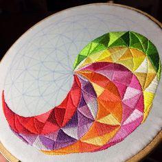 Ideas Embroidery Hoop Alternative Cross Stitch For 2019 Hand Embroidery Stitches, Embroidery Hoop Art, Hand Embroidery Designs, Embroidery Techniques, Cross Stitch Embroidery, Embroidery Patterns, Cross Stitch Patterns, Embroidery Floss Crafts, Contemporary Embroidery