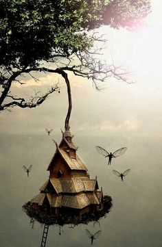 New fairy tree house illustration fantasy art Ideas Fairy Dust, Fairy Land, Fairy Tales, Magic Fairy, Fantasy World, Fantasy Art, Fantasy Fairies, Fantasy Drawings, Fantasy House