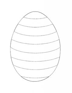 striped Easter egg coloring page template