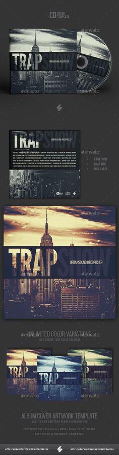 Trap Show - CD Cover Artwork Template - CD & DVD Artwork Print Templates