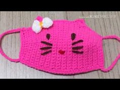 Home Decor ideas &Home Garden & Diy Crochet Mask, Crochet Faces, Crochet Girls, Easter Crochet, Crochet Motif, Crochet For Kids, Crochet Stitches, Knit Crochet, Crochet Book Cover