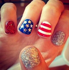 brendon urie's fiancee sarah's nails for the election....SO CUTE!!! LOVE!