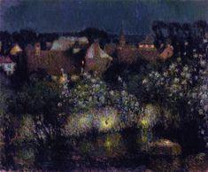 Rooftops in Moonlight (Henri Le Sidaner - 1910)