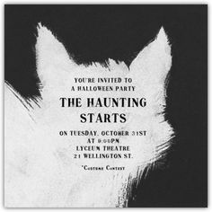 Scary cat halloween invitation from Paperless Post -- can you believe these are e-invites?