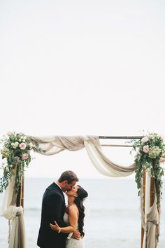 #canopy  Photography: Braun Photography - braun-photography.com  Read More: http://www.stylemepretty.com/2014/06/20/romantic-outdoor-wedding-on-the-shores-of-maui/