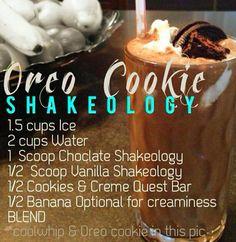Chocolate Vanilla Shakeology:   Oreo Cookie
