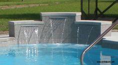 Fiberglass Swimming Pool waterfall