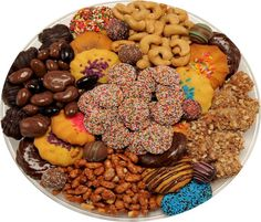 A luscious arrangement our fresh baked Italian Style Cookies, surrounded by Dark…
