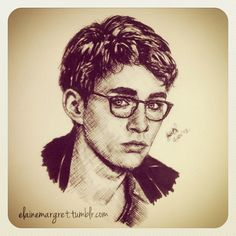 Raw pen illustration of Robert Sheehan as Simon Lewis from The Mortal Instruments: City of Bones To The Bone Movie, Pen Illustration, Illustrations, Mortal Instruments Books, Simon Lewis, Robert Sheehan, Past Tense, The Dark Artifices, City Of Bones