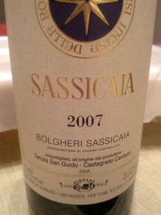 Sassicaia 2007