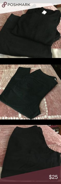 🆕Jeans & Top Set. Brand New Woman Within Black Jeans, Size 24W and  Zenobia Black Long Sleeve Top, Size 3X. Never Worn. Jeans have 2 back pockets. Other
