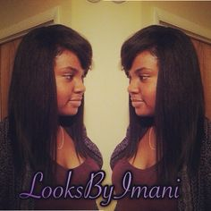 Minimum leave out sew in on natural hair ! #LooksByImani  Imanigunn@gmail.com