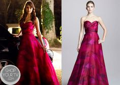 Shop Your Tv: The Vampire Diaries: Season 4 Episode 19 Elena's Abstract Printed Gown