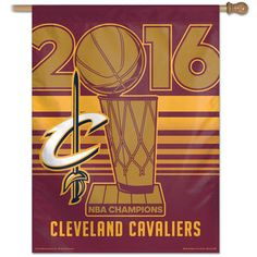 Cleveland Cavaliers 2016 NBA Finals Champions Vertical Banner