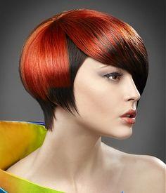 Inverted Bob With Fun Red Highlights More Inverted Bob Haircolor Hair ...
