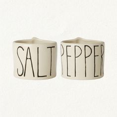 Salt & Pepper Cellars. Like the handwritten typography style.