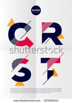 Typographic alphabet in a set. Contains vibrant colors and minimal design on a minimal abstract background Stock Vector - 46368704 Typography Inspiration, Graphic Design Inspiration, Bts Design Graphique, Typographie Logo, Banner Printing, Typography Letters, Typography Logo Design, Grafik Design, Minimal Design
